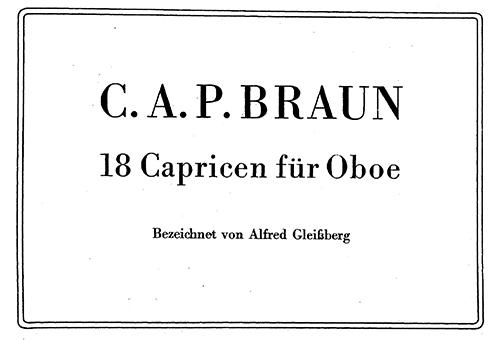 Braun – 4 Caprices in various keys