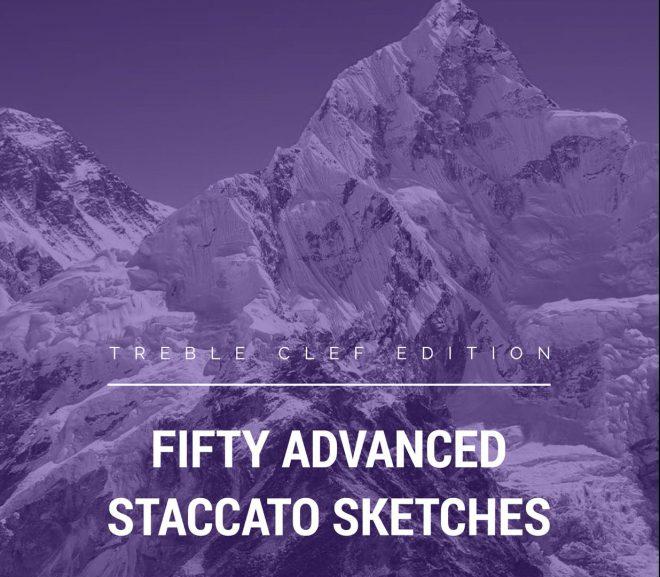 50 Advanced Staccato Sketches